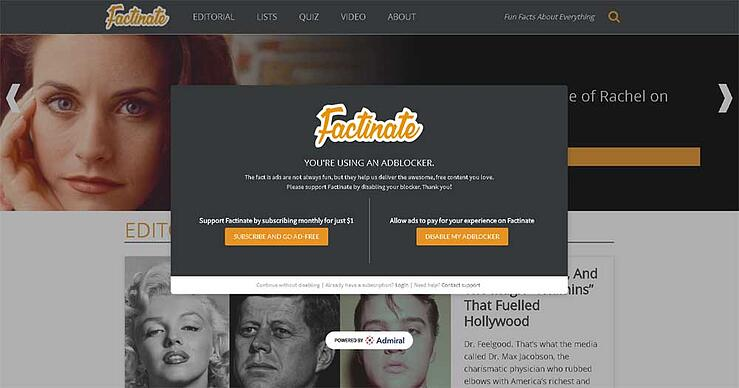 Factinate Visitor Subscription - Launch Fast and Easy