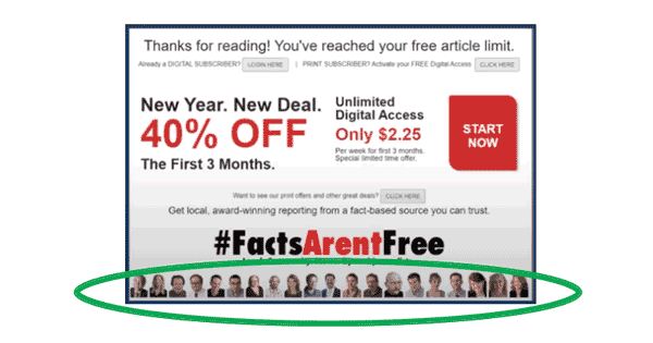 FactsArentFree digital subscription ad RJ Media