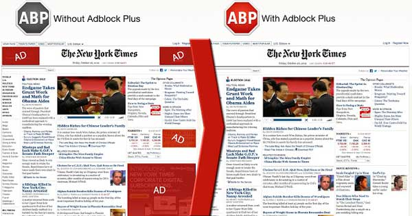 Comparing Adblock of NYTimes Ads
