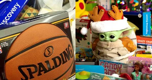 basketball Toys for Tots Admiral donations