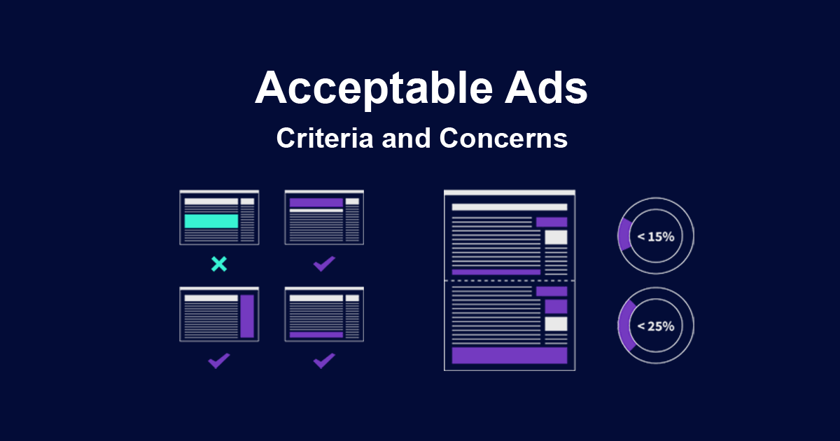Acceptable Ads Criteria Examples - Publisher Guide Blog Image