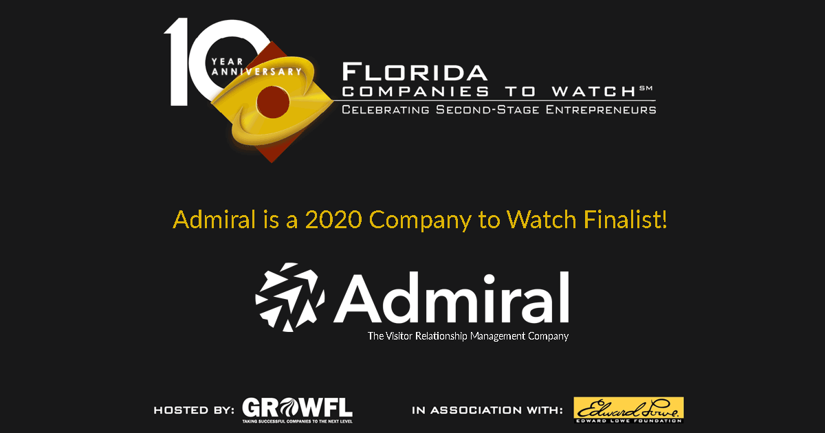 Admiral Selected as 2020 GrowFL Company to Watch Finalist