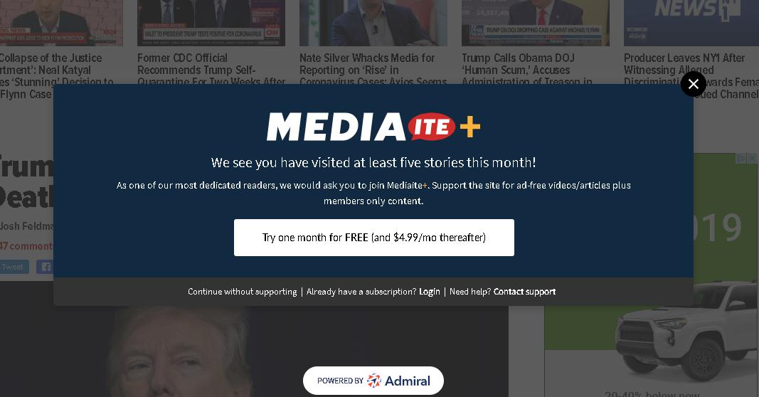 Admiral Drives Digital Subscription Example